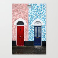 Red Vs Blue 02 Canvas Print