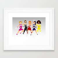 GIRL - POWER RANGERS Framed Art Print