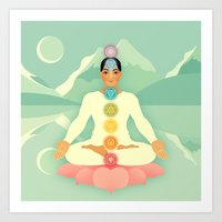 Sacred World: Chakras Art Print