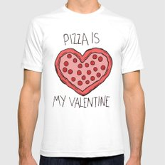 Valentine Pizza SMALL Mens Fitted Tee White