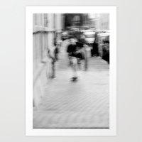 Skateboarding! Art Print