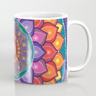 Lotus Rainbow Mandala Mug