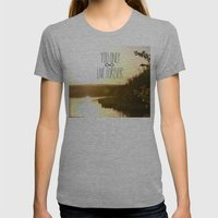 You Only Live Forever Womens Fitted Tee Athletic Grey SMALL