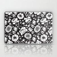 Black Russian Floral Laptop & iPad Skin