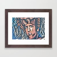 another birck head Framed Art Print