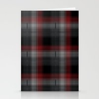 Black, Red, Lumberjack Plaid Stationery Cards