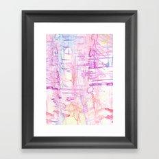 water colour simplicity Framed Art Print
