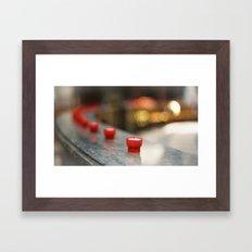 Focal train. Framed Art Print