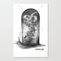 S6 Snail - S6 Tee Canvas Print