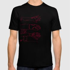 Classic Horror Hands (Red Line) SMALL Black Mens Fitted Tee