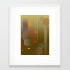 Circular Movement - Abstract Modern Poster Design Framed Art Print