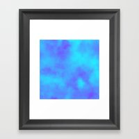 Blue and Purple Clouds  Framed Art Print