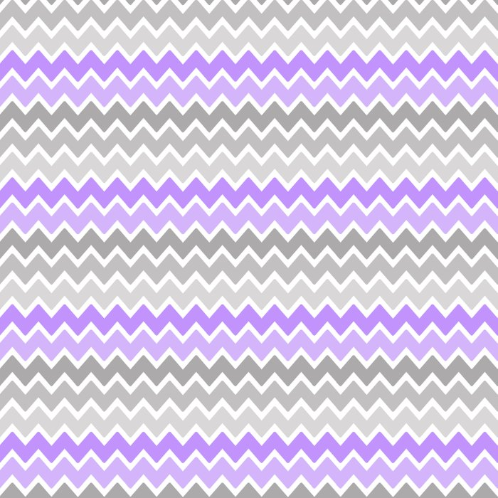 Grey Gray Purple Ombre Chevron Art Print by Decampstudios ...