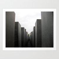 Holocaust Memorial, Berl… Art Print
