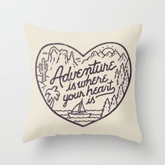 Adventure Is Where Your … Throw Pillow