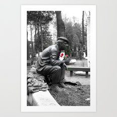 Only Flowers Remain Art Print