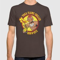 Yoga Flame Grilled BBQ Mens Fitted Tee Brown SMALL