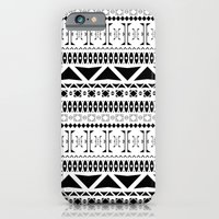 iPhone & iPod Case featuring Black & White Pattern by Scott - GameRiot