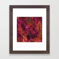 Imprinted Shocking Pink … Framed Art Print