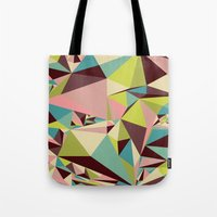 Tote Bag featuring Triangle Pyramids by Suburban Bird Designs