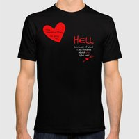 This Valentine's Day I'm Going to... HELL Mens Fitted Tee Black SMALL