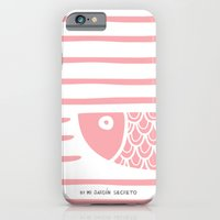 iPhone & iPod Case featuring PIXE 2 (light pink) by Mi Jardín Secreto
