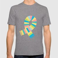 #13 Scarf Mens Fitted Tee Tri-Grey SMALL
