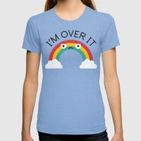 Above Bored Womens Fitted Tee Tri-Blue SMALL
