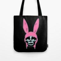 Grey Rabbit/Pink Ears Tote Bag