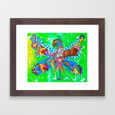 PARROFLY WITH ME! Framed Art Print