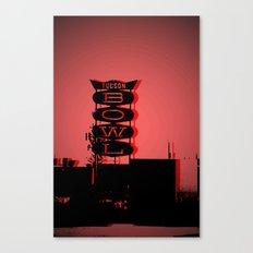 Tucson Bowl (red) Canvas Print