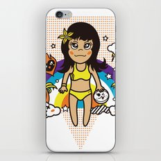 BEACH SPIKE: summer. beach.volleyball iPhone & iPod Skin