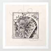 abstract doodle #3 Art Print
