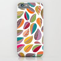 iPhone & iPod Case featuring Leaf Colorful by Shakkedbaram