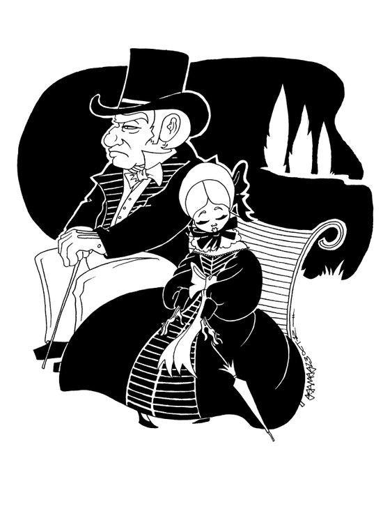 M. Leblanc et Mlle. Lanoire Art Print