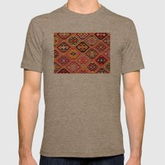 greek carpet pattern Mens Fitted Tee Tri-Coffee SMALL