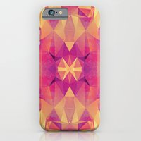 iPhone & iPod Case featuring RETRO PINK GEOMETRY by Nika
