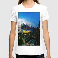 New York City As Viewed … Womens Fitted Tee White SMALL