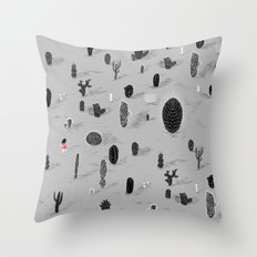 Cactarium Throw Pillow