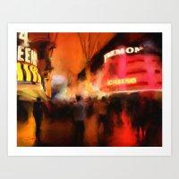 Fremont at Night Art Print