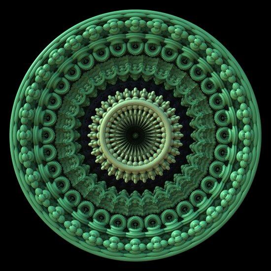 3D Mandala - Feb. 3 2013 Art Print