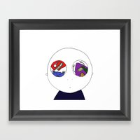 Voices In My Head Framed Art Print
