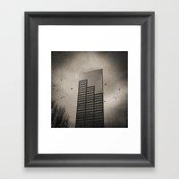 Ravens, Clouded Sky Framed Art Print