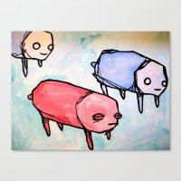 herd of pups Canvas Print