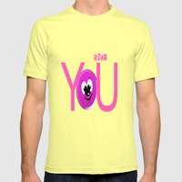 Only You Mens Fitted Tee Lemon SMALL