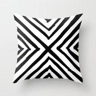 Angled Stripes Throw Pillow