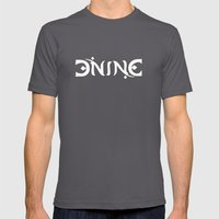 DIVINE - Ambigram series (Black) Mens Fitted Tee Asphalt SMALL