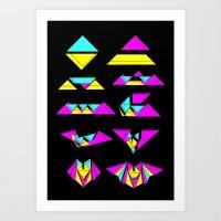Paper Bats Art Print