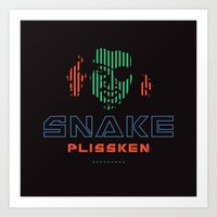 Snake Plissken Art Print