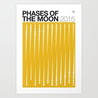 YELLOW Phases Of The Moo… Art Print